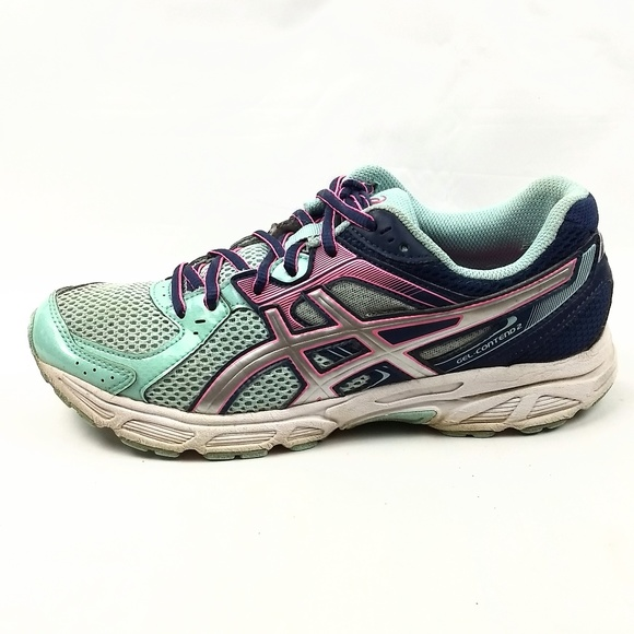 Asics Gel Contend 2 Running Shoes T474N Womens 8
